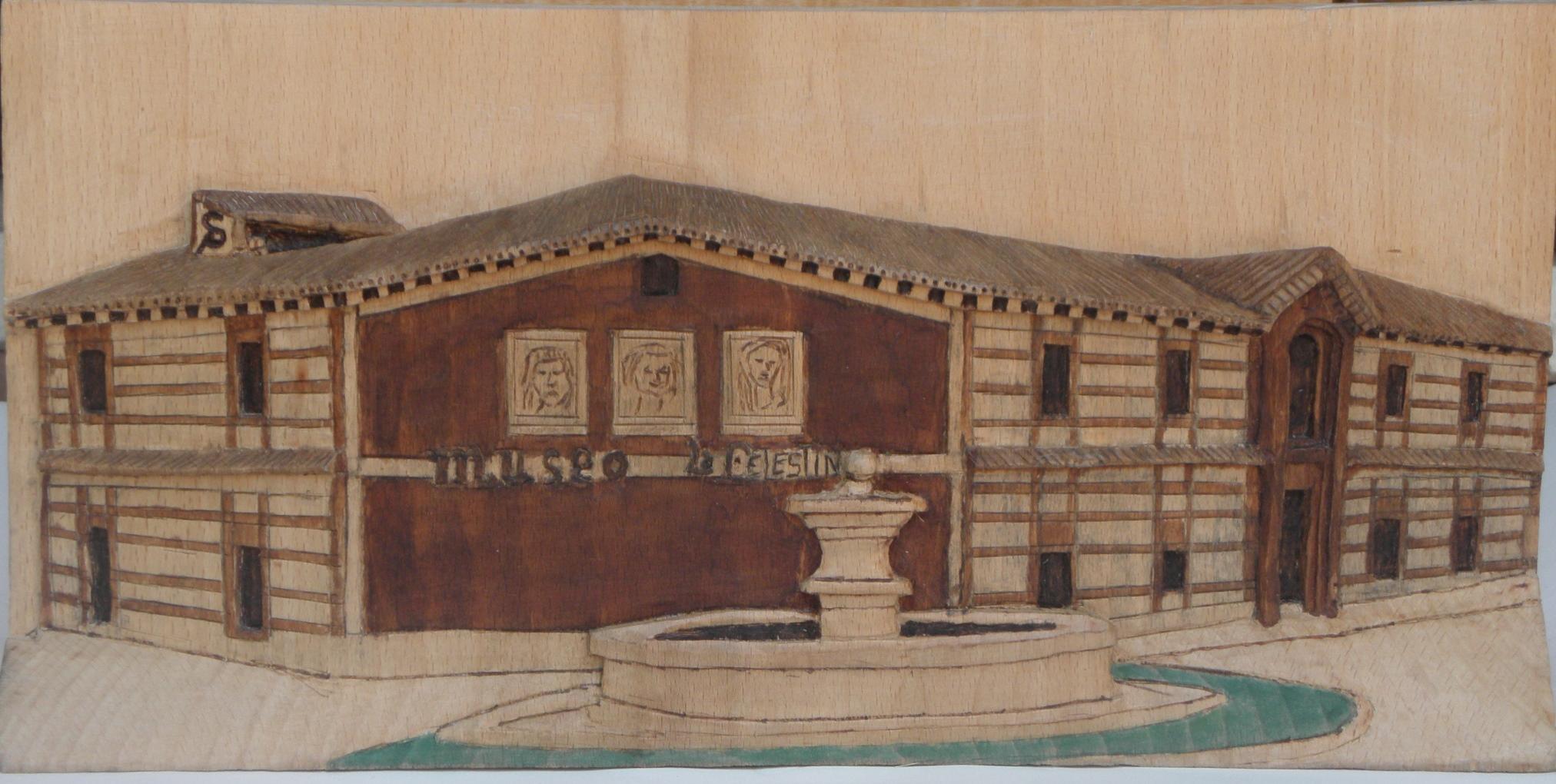 Exposición de retablos tallados